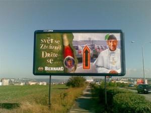 Billboard Bernard - papež